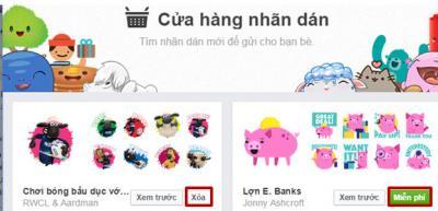 Thêm tiện ích facebook